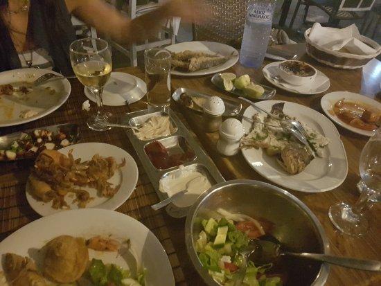 Mer Bleue Beach Restaurant : Best fish dishes in Larnaca Oroklini! We enjoyed The fish with chardoni white wine & shisha.  Ab