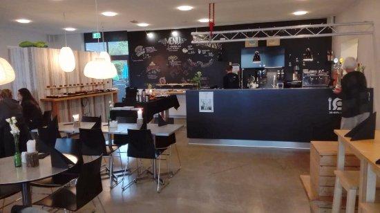 Viborg, الدنمارك: Restauranten set fra vindueplads