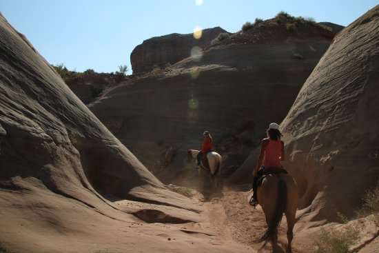Big Water, UT: Riding into a Slot Canyon