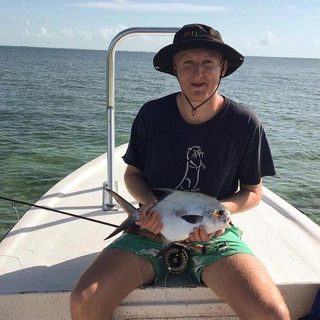 Caye Caulker, Belize: Permit caught