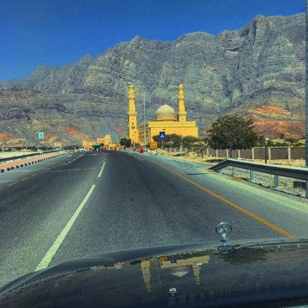 Musandam Governorate, โอมาน: Road along coast