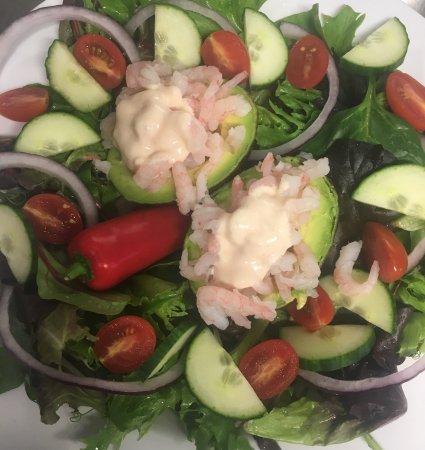 Hope, UK: Prawn and avocado salad