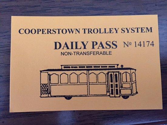 Cooperstown, Estado de Nueva York: Trolley