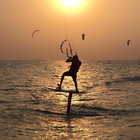 Kite@North Mauritius: Sunset