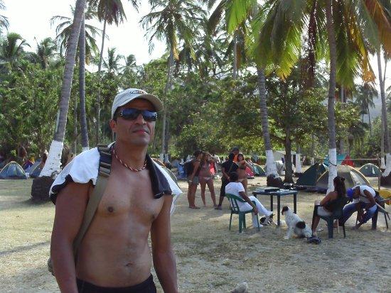 Camping Tayrona : Zona de Camping en Cabo San Juan