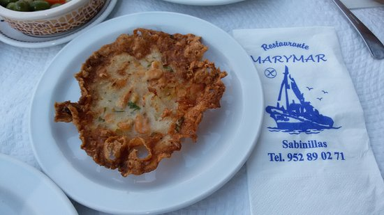 San Luis de Sabinillas, Ισπανία: Tortilla de camarones