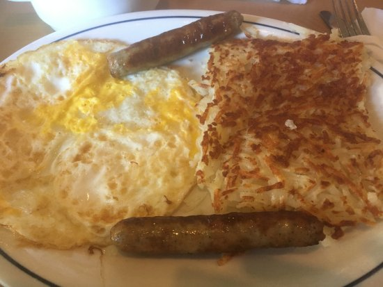 Bell Gardens, Californië: Eggs, hash browns and sausage
