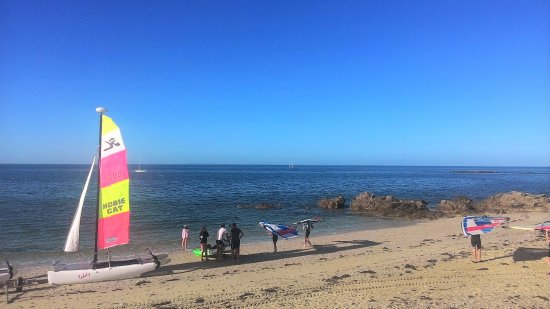 Morbihan, Fransa: Club Nautique du Rohu - Hors saison - Lumière rasante
