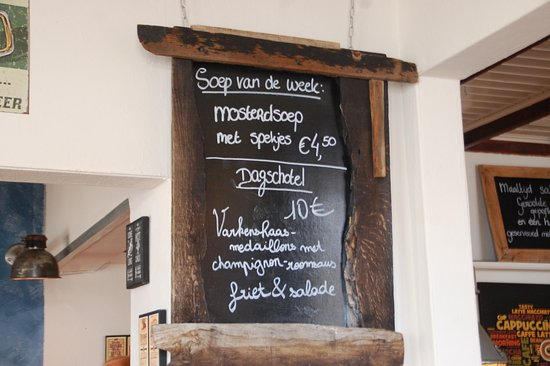 West-Terschelling, เนเธอร์แลนด์: De dagschotel op het bord