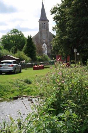 Lompret, Belgium: vue de notre table