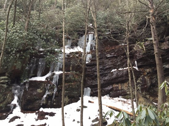 Jim Thorpe, PA: looking up the falls
