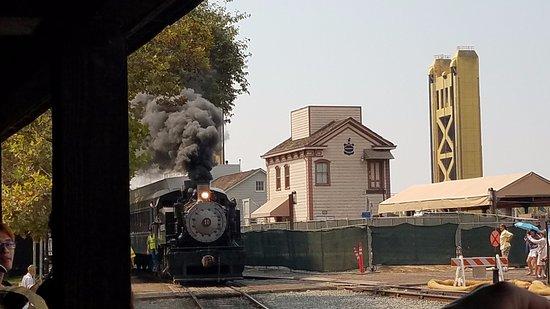 West Sacramento, Californië: Steam Locomotive