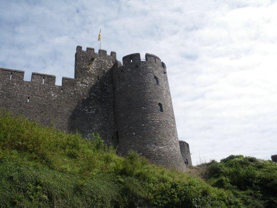 """Pembroke, UK: Rear of the castle taken from the """"castle walk"""" path."""