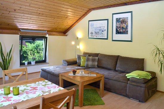 Wohnzimmer, große Ferienwohnung - Bild von Haus Lange, Weißenstadt ...
