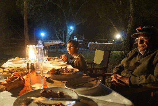 Fairmont Mara Safari Club: Bush Dinner in the Open