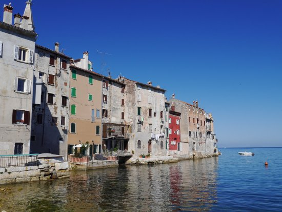 Old town Rovinj from the harbour area