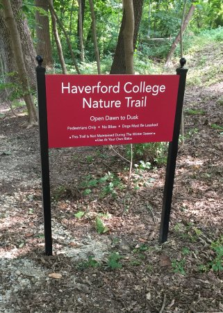 Haverford College Natural Trail Sign Picture Of Arboretum At