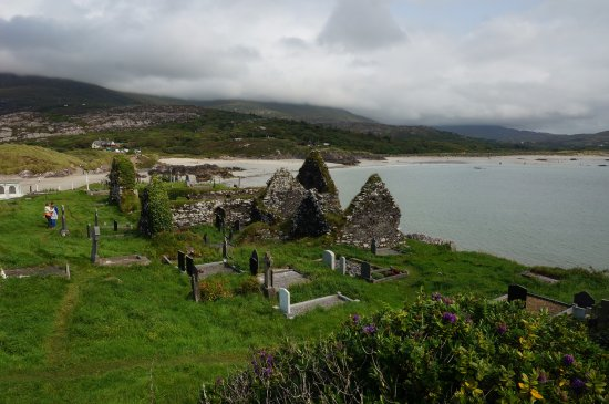 Caherdaniel, Ireland: the abbey and water
