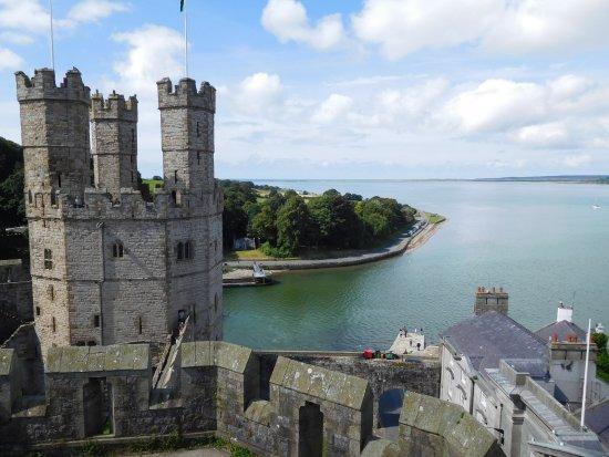 Caernarfon, UK: Veduta dalle torri