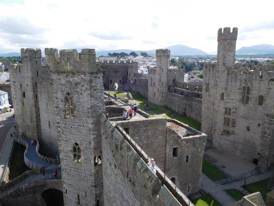 Caernarfon, UK: Veduta castello
