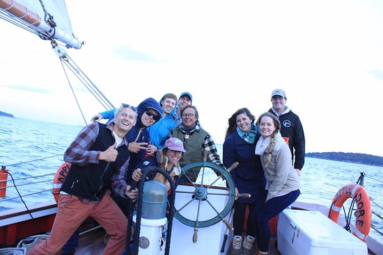 Camden, ME: Our crew with the Appledore crew