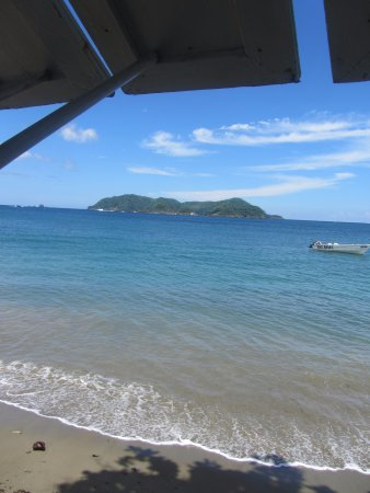 Speyside, Tobago: view from restaurant
