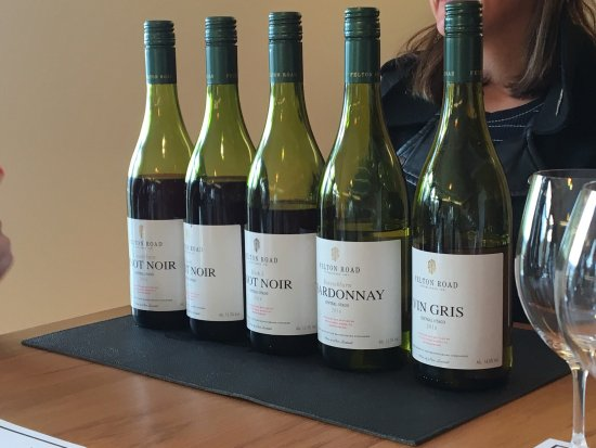 Cromwell, New Zealand: Our tasting line-up