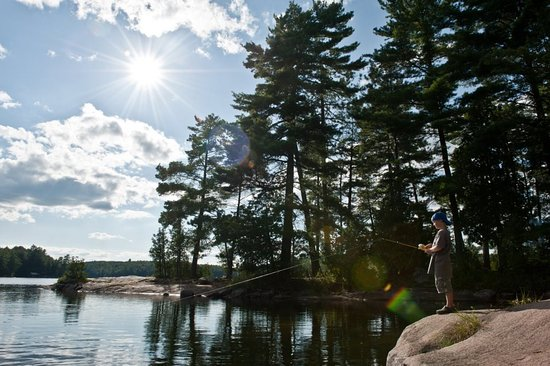 Fishing at Grass Lake, Haliburton