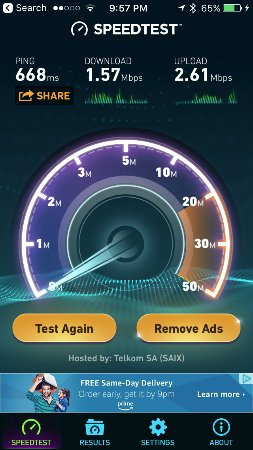 Protea Hotel by Marriott OR Tambo Airport: incredibly slow internet