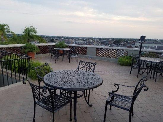 Omni Royal Orleans: observation deck above the pool area