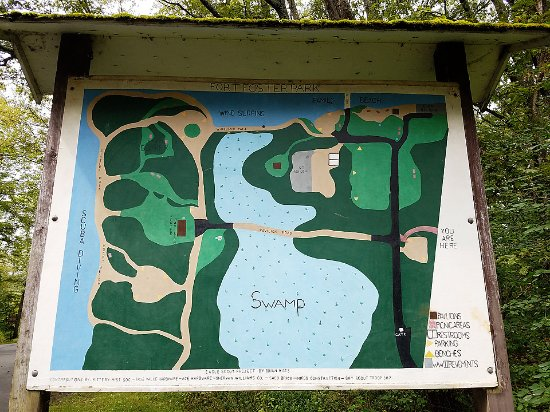 Fort Foster: Map of park