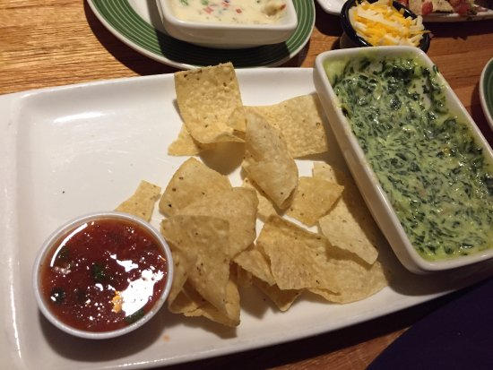 Woodbridge, NJ: Chips with broccoli cheese dip