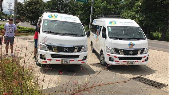 Tropical Tours Shuttles minibus units in Guanacaste Costa Rica