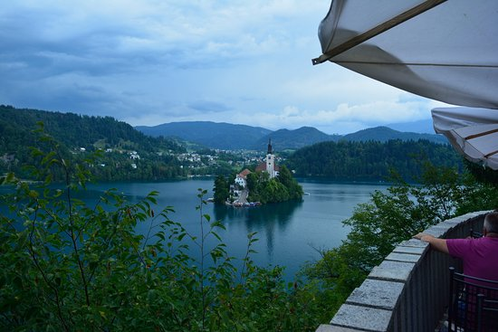 Terraza Exterior Picture Of Cafe Belvedere Bled Tripadvisor