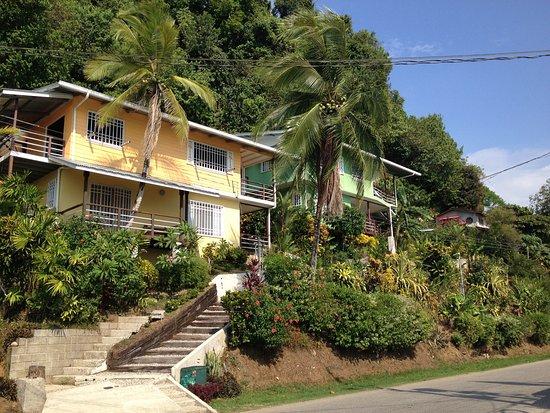 Banana Bay Marina Restaurant: Our cute rental house across the street