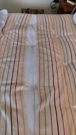 The Speech House Hotel: Ripped mattress