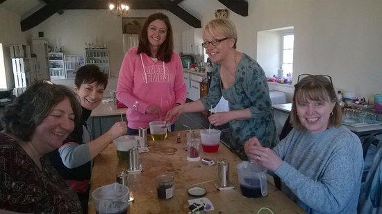 Dwyran, UK: candle making