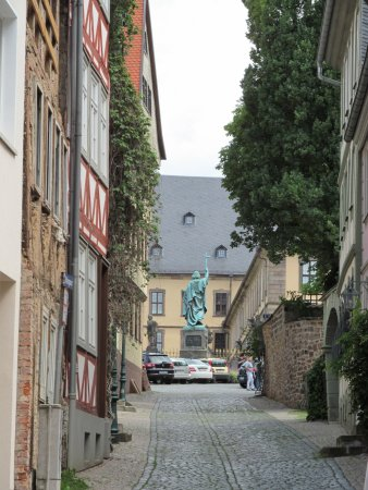 Fulda, Deutschland: St Boniface is a short walk from the Hexenturm (Witch Tower)