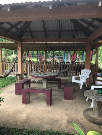 Belmopan, Belize: Outside and Menu at Omega's