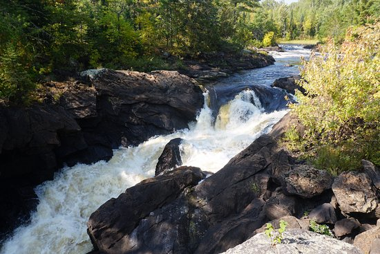 Crane Lake, MN: Vermilion Falls from the Viewing Platform