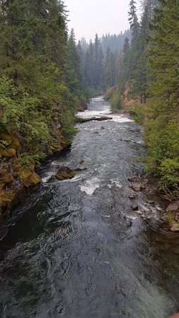 Prospect, OR: Rogue River after it reappears from underground