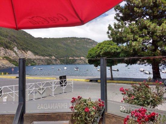 La Nueva Barra : Vista al lago desde el restaurant