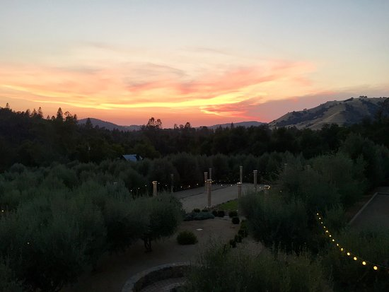 Coloma, CA: Sunset from the balcony.