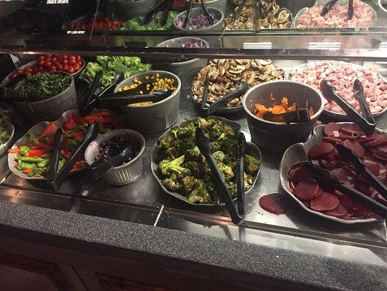 Roseville, MN: Salad bar closeup