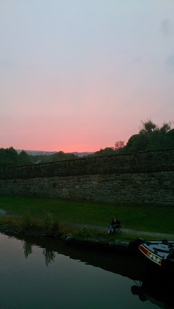 Whaley Bridge, UK: sunset from the wide