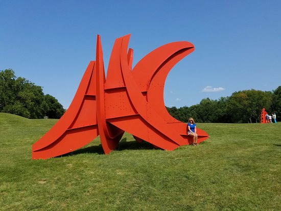 New Windsor, NY: We were lucky for a wet summer as the green grass, blue sky, and bright sculptures were dramatic