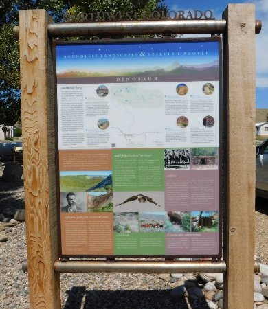 Dinosaur, CO: Informational sign about Northwest Colorado located on the south side of the visitor center.