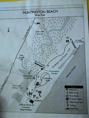 Trail Map Picture Of Huntington Beach State Park Murrells Inlet Tripadvisor
