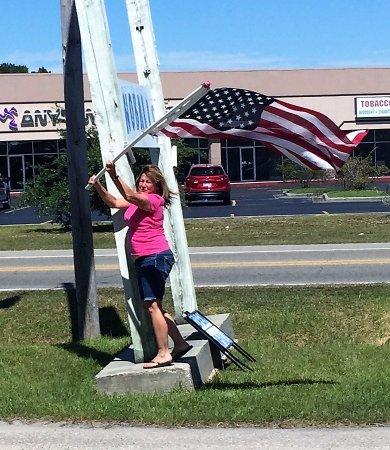 Bay Saint Louis, MS: Paule is very friendly and definitely patriotic
