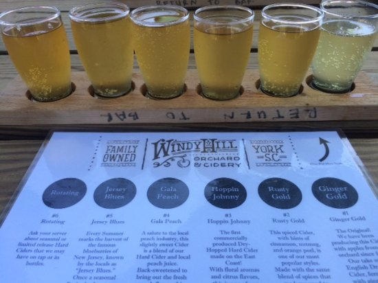 York, Carolina del Sur: Windy Hill Cider Flights